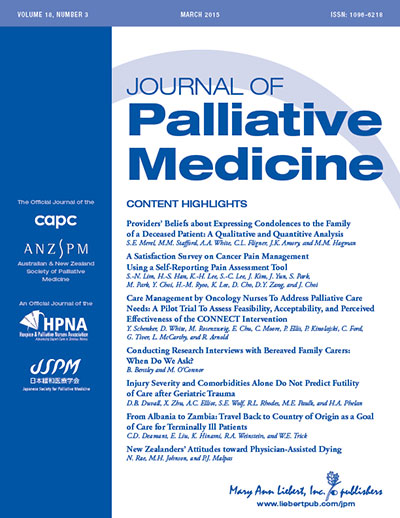 JournalOfPalliativeMedicine cover